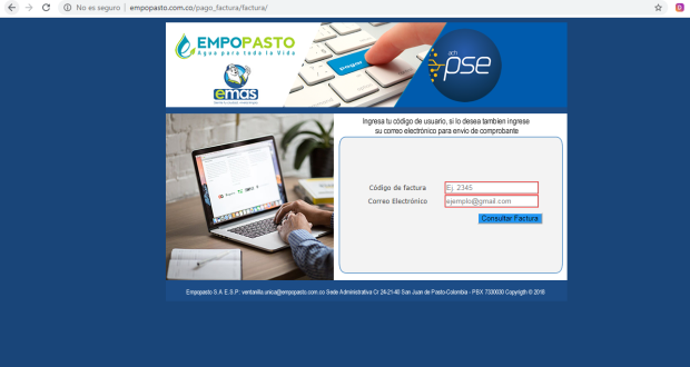 Consultar, Descargar, Imprimir Pagar Duplicado Factura de Empopasto por Internet en Linea PSE 2020