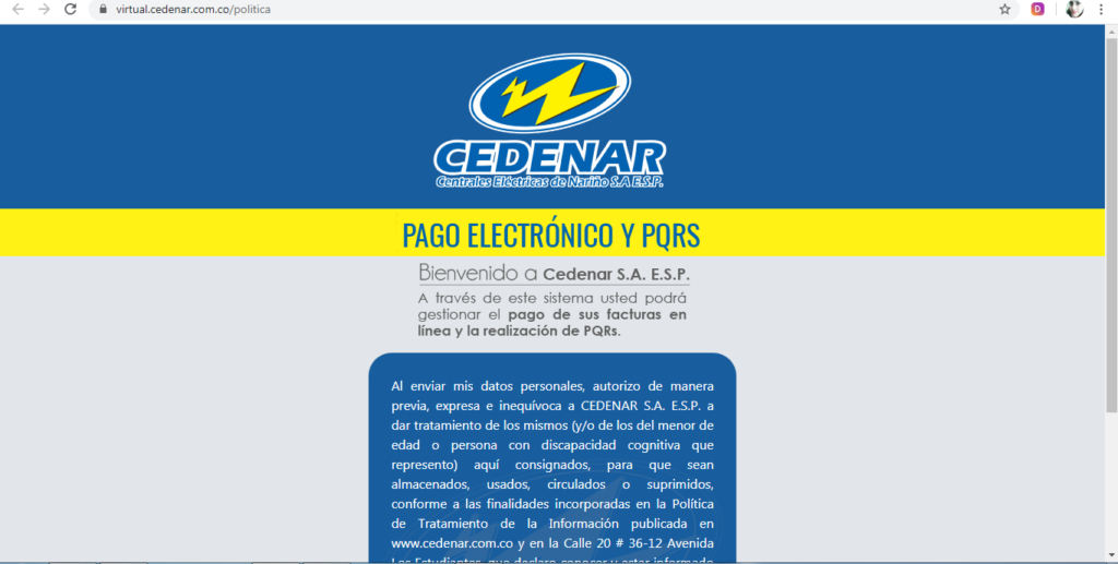 Consultar, Descargar, Imprimir Pagar Duplicado Factura de Cedenar por Internet en Linea PSE 2020