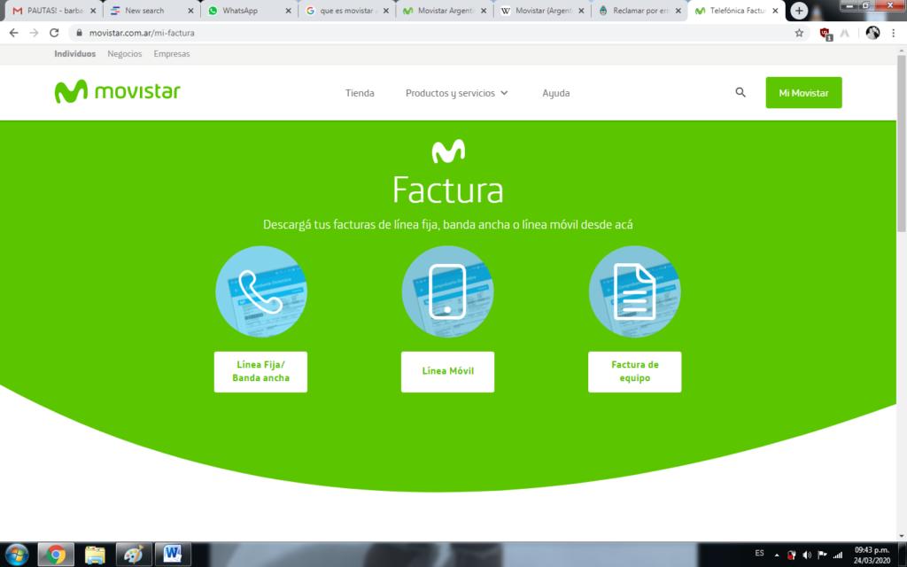 Movistar (Telefónica) Factura 🤩 Consulta + Pagar y Descargar